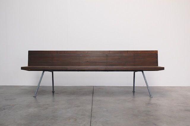 All designs by Dom Hans van der Laan (1904-1991) demonstrate a clear sense of dimension. Van der Laan was a Platonist who devised his own system of measurements to which all elements of the architecture- and everything in it (like lamps or this bench) adhered.