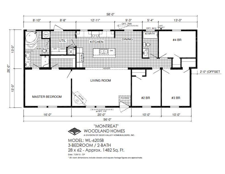 Woodland Homes Deer Valley Homebuilders Modular Home Floor Plans House