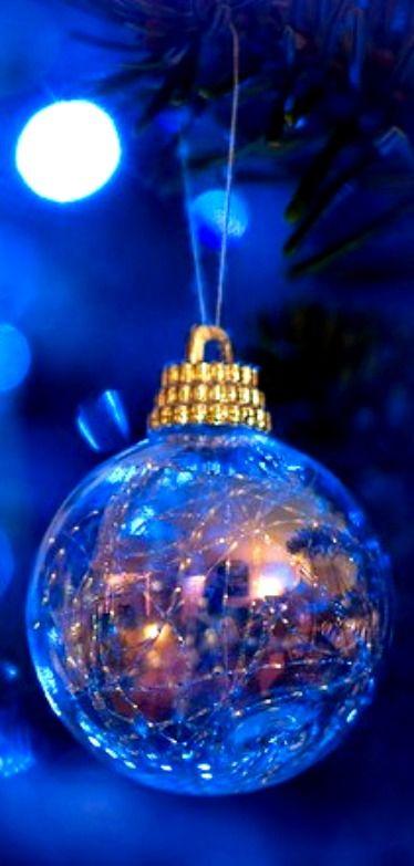 Royal Blue Christmas Ornament Blue Christmas Holiday Christmas Bulbs