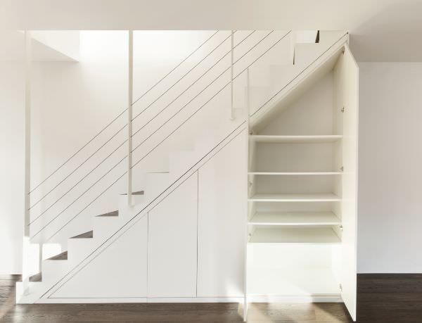 Sottoscala mobilio sottoscala pinterest scala scale for Planimetrie della cabina di log con 2 camere da letto e soppalco