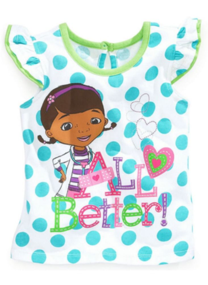 5e052706ba40 Disney Graphic Tee Shirt Flutter Sleeve Top Polka Doc McStuffins ...