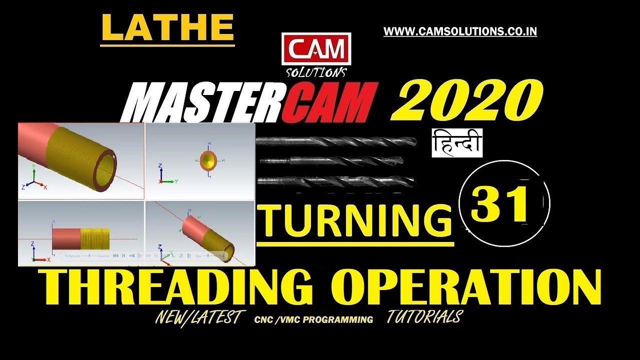 MasterCam 2020 Threading tutorial in lathe| Threading ID OD