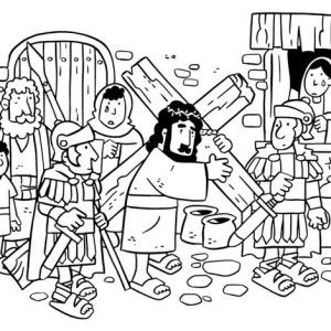 Jesus Loves Children and Jesus Love Me Coloring Page Color Luna