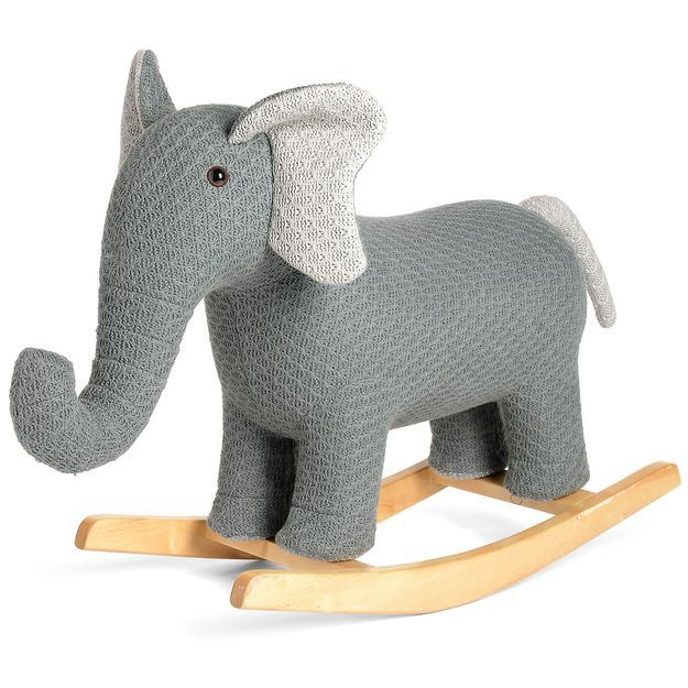 Schaukeltier Elefant 94x34x77cm Grau Grau Geschenke Zur Taufe