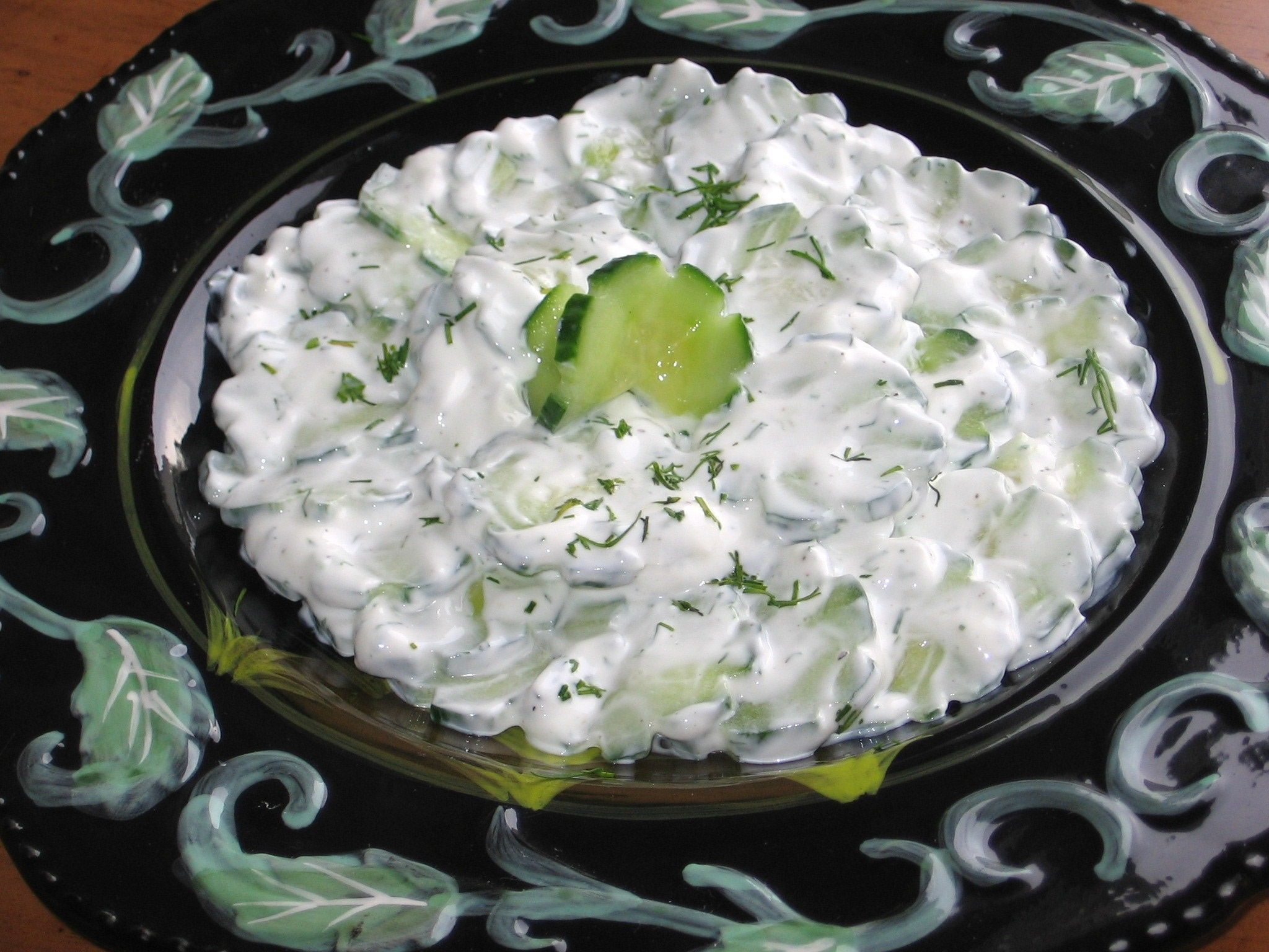 This Cooling Polish Cucumbers In Sour Cream Has An Interesting Name Recipe Sour Cream Cucumbers Recipes Eastern European Recipes