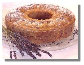 Lavender-Lemon Cake with Honey Glaze