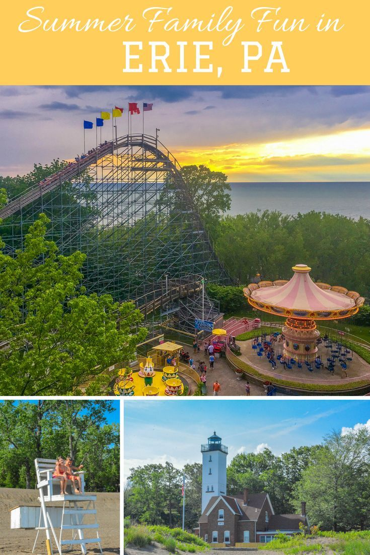 A 2 day itinerary for a family vacation to erie