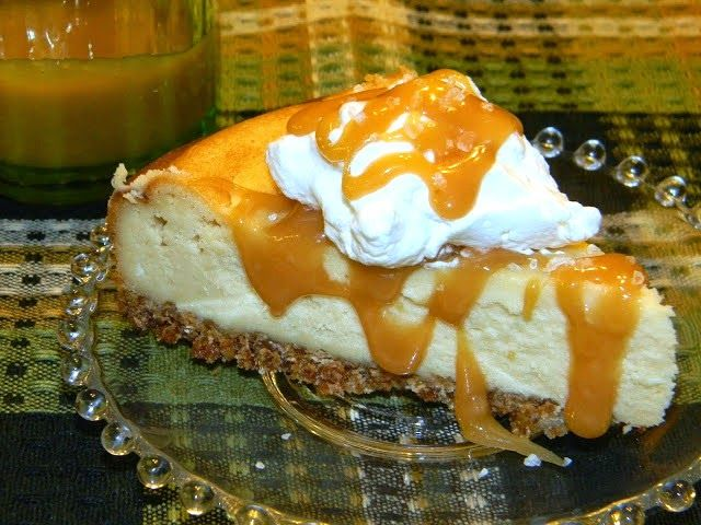 Crazy for Cookies and more: Caramel Irish Cream Cheesecake with salted Caramel Sauce