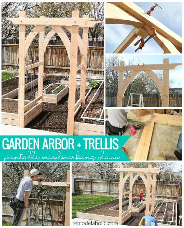 Build An Arched Vegetable Garden Arbor And Trellis Using 2x Lumber And Basic Tools Printable Woodworking Tuin Prieeltje Tuinplanning Tuin Ideeen Doe Het Zelf