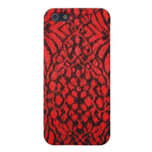 Rare Ruby Red Reptile iPhone Case