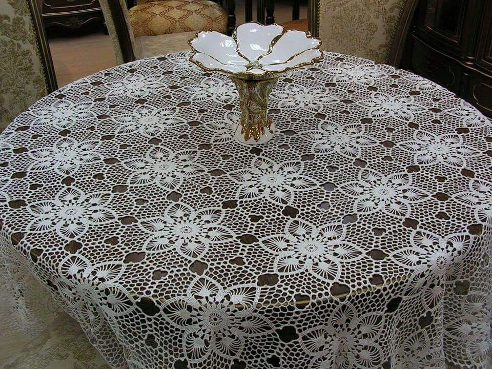 Crochet Round Table Cloth Free Pattern Crochet Table Cloth Table