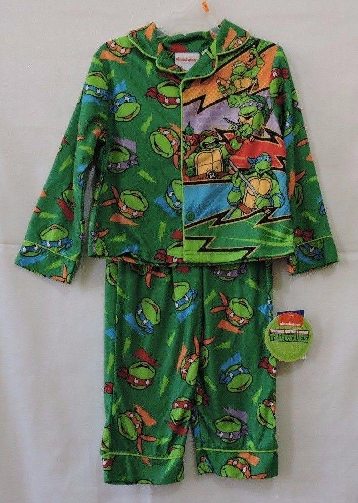 b353f71d19 NWT Teenage Mutant Ninja Turtles Boys Two Piece Fleece Sleep Wear Size 4T   Nickelodeon  TwoPiece