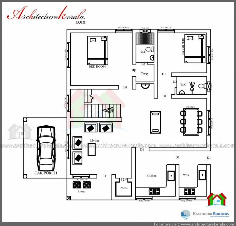 Low Cost House Plans With Estimate 3 Bedroom Kerala Plan Elevation Free Low Cost House Plans House Low Cost House Plans Bedroom Floor Plans Budget House Plans