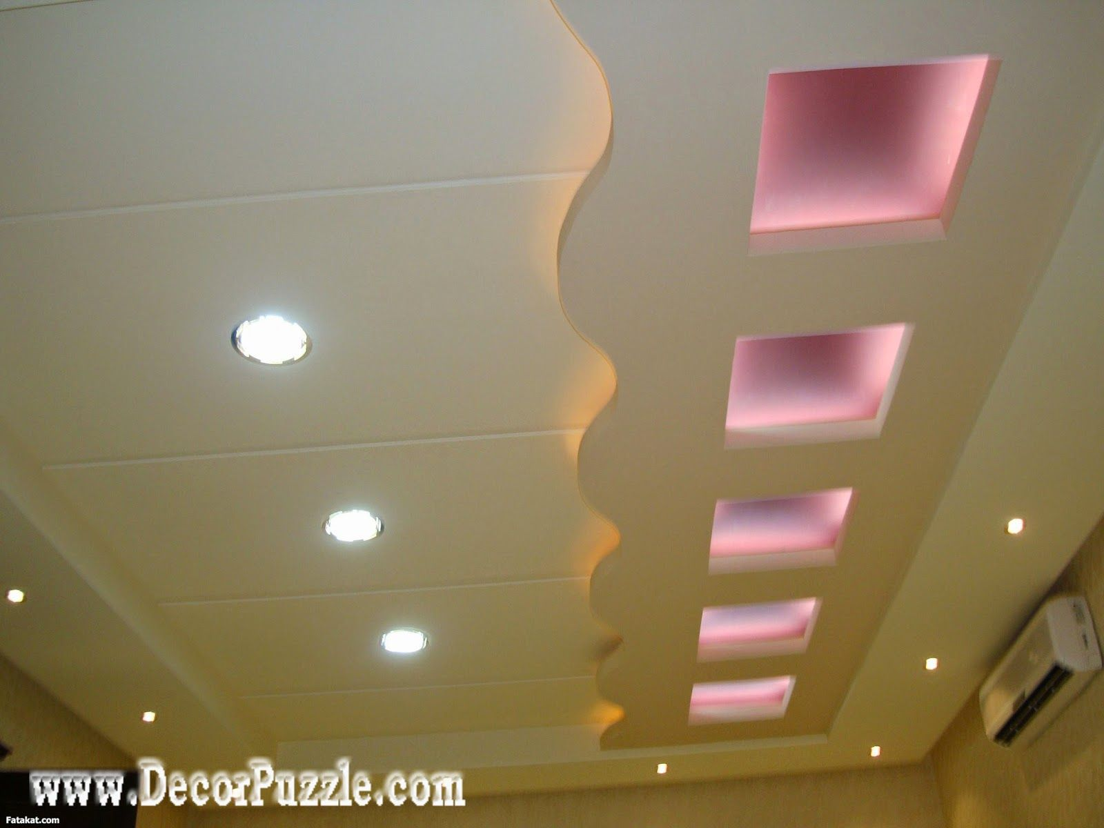contemporary false ceiling design for living room, plasterboard