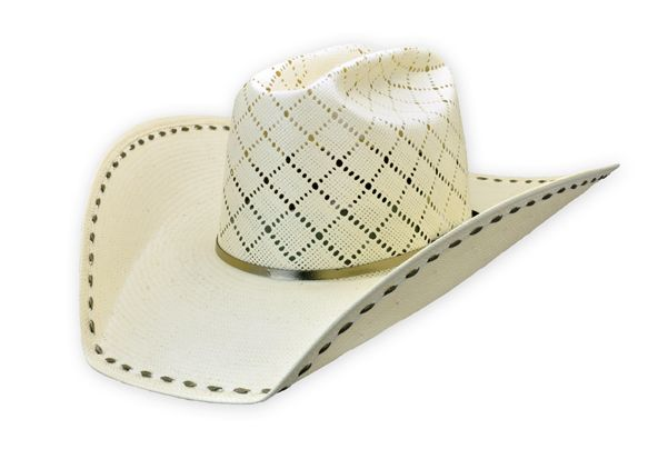 Shorty s Caboy Hattery  Straw Hat with Buck Stitch Western Cowboy Hats 98765dffd7f