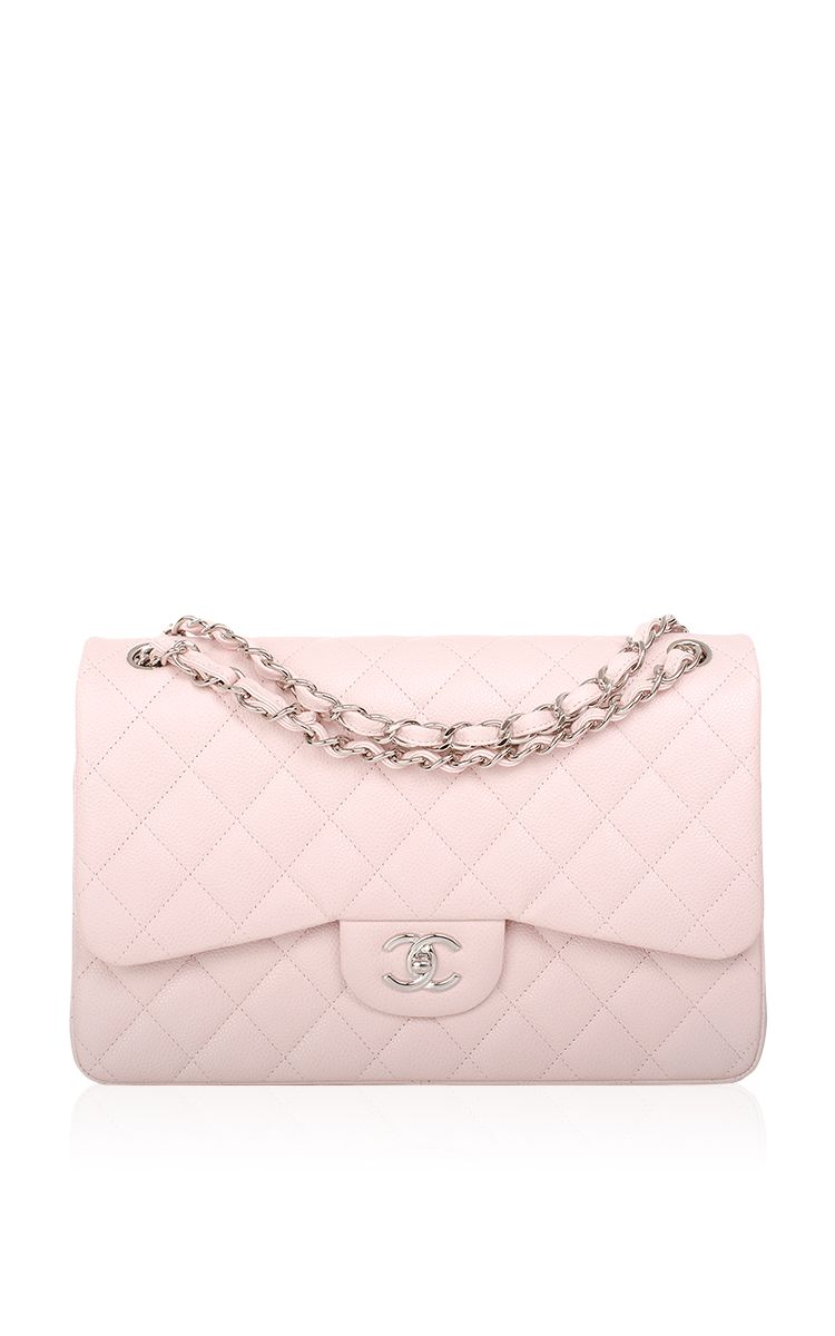 46a38f5cda79 Chanel Baby Pink Quilted Caviar Jumbo Classic Bag by Madison Avenue Couture