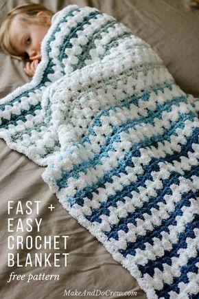 Tributary Free Beginner Crochet Baby Blanket Pattern Crochet