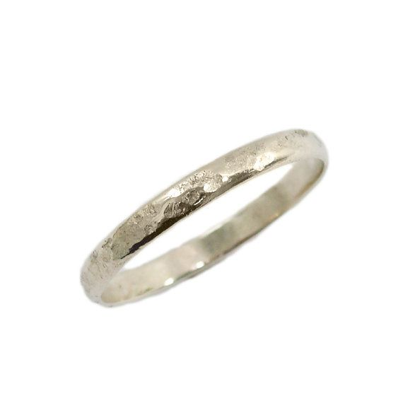 Classic Wedding Ring Hammered Wedding Ring 14k White Gold Etsy Classic Wedding Rings Hammered Wedding Rings Delicate Gold Ring