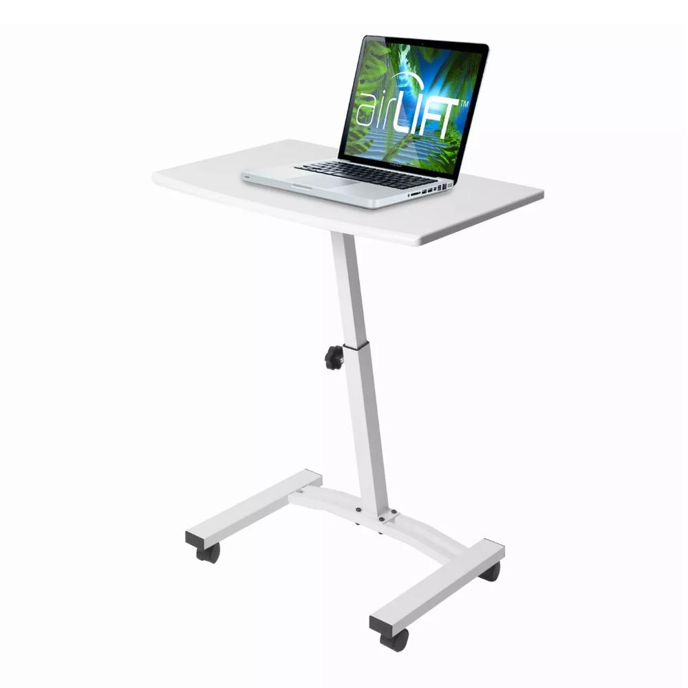 Airlift Mobile Laptop Computer Desk Cart White Seville