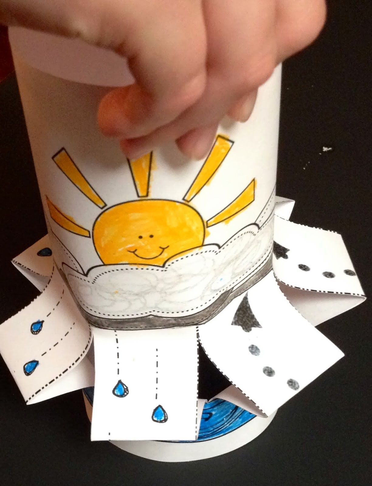Water Cycle Wind Sock Craft For Weather Science Fun