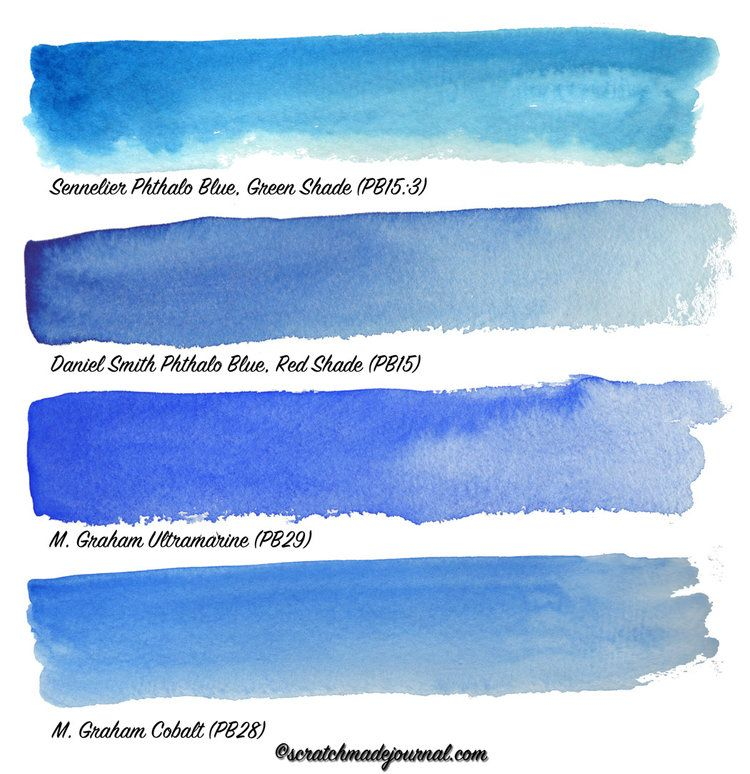 Comparing Blue Watercolors Phthalo Blue Watercolor Sky