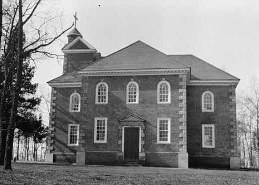 Aquia Church in Stafford, Virginia, is said to be one of the most haunted churches in Virginia.