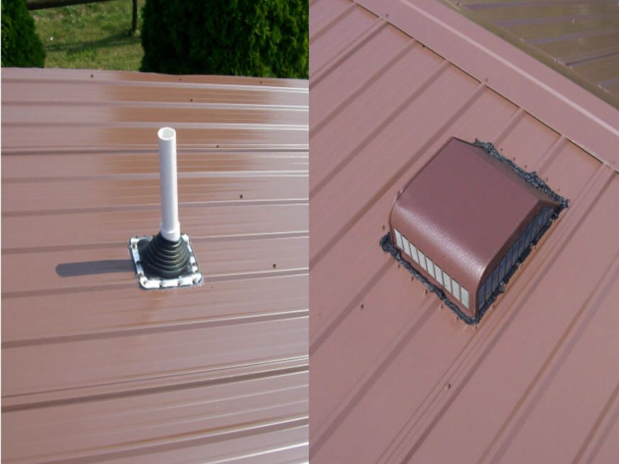 Mobile Home Roof Vents In 2020 Metal Roof Vents Roof Vents Metal Roof Installation