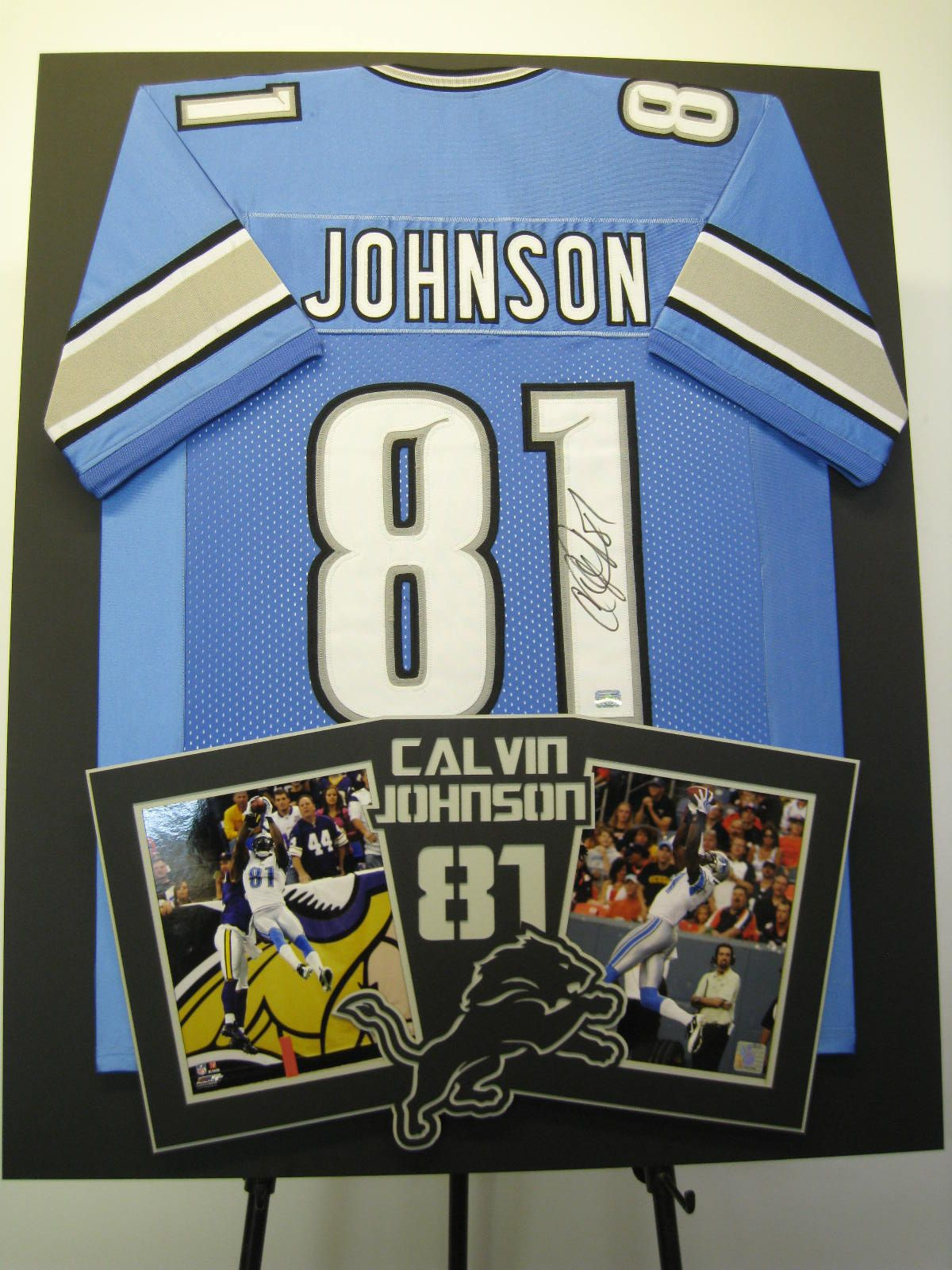 Calvin Quot Megatron Quot Johnson Framed Jersey With Photos