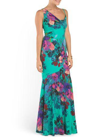 Alternative Wedding Dress for a Tropical Wedding Silk Blend Aislin Botanic Gown - Nicole Miller