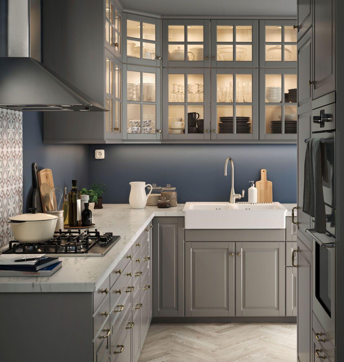 Cat logo cocinas 2017 cocina gris y azul kasa for Kasa diseno interior