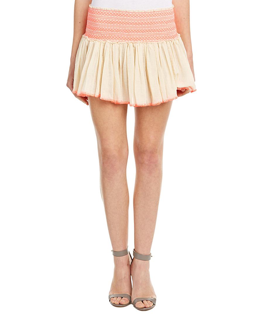 LOVESHACKFANCY. Mini Skirts. LOVESHACKFANCY LOVESHACKFANCY BEACH EMBROIDERED  ...