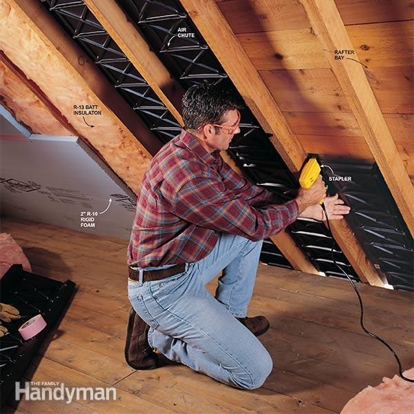 Are You Finishing Your Attic First You 39 Ll Need To Insulate The Ceiling Here 39 S How To Do The Job Properly Finished Attic Attic Remodel Garage Attic