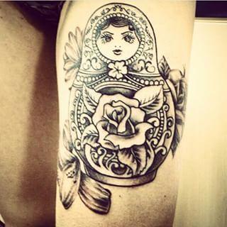 russian doll tattoo google search tattoos2 pinterest tatouage de poup e russe tatouage. Black Bedroom Furniture Sets. Home Design Ideas