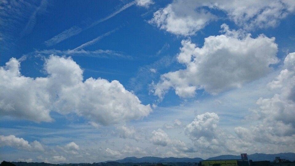 Sky in japan Oita city