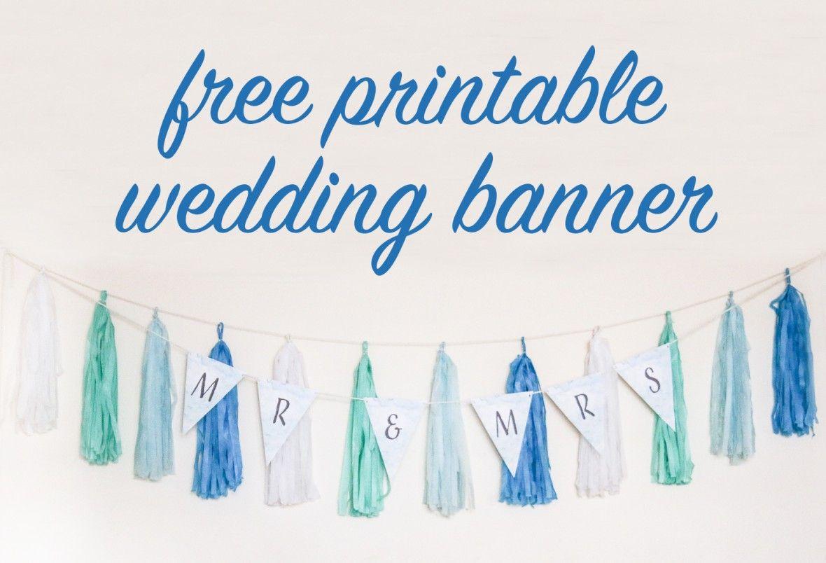 Free Diy Printable Wedding Banner intended for Diy Banner ...