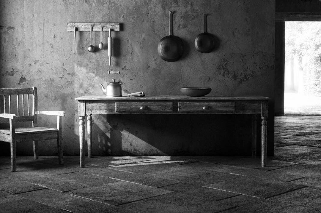 #render #rendering #interior #oldarchitecture #oldinterior #countryside #c4d #maxwellrender #bw #instarender #render_contest #renderbox by stekanio