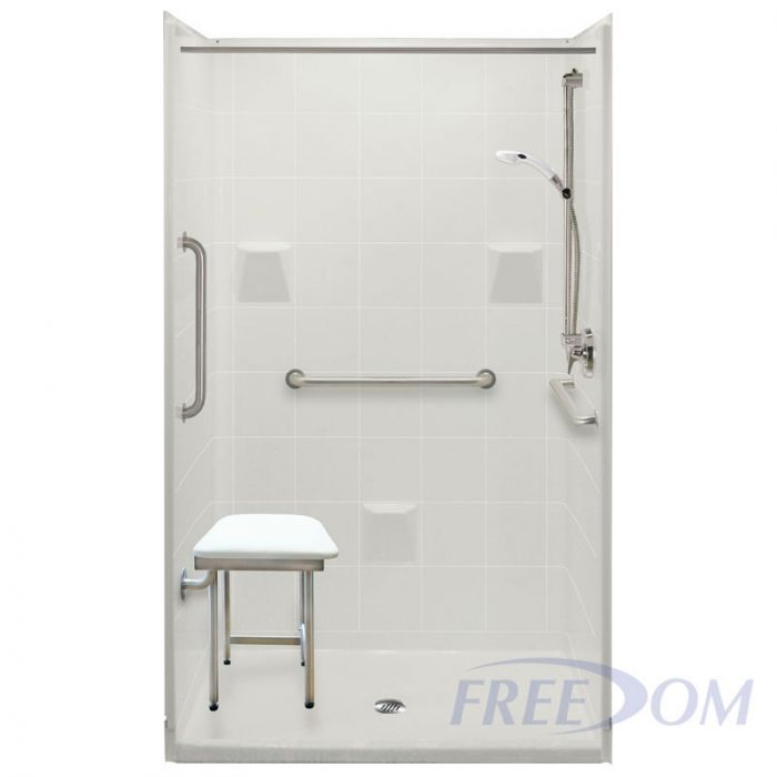 Freedom Easy Step Shower Center Drain 4 Piece 48 X 37