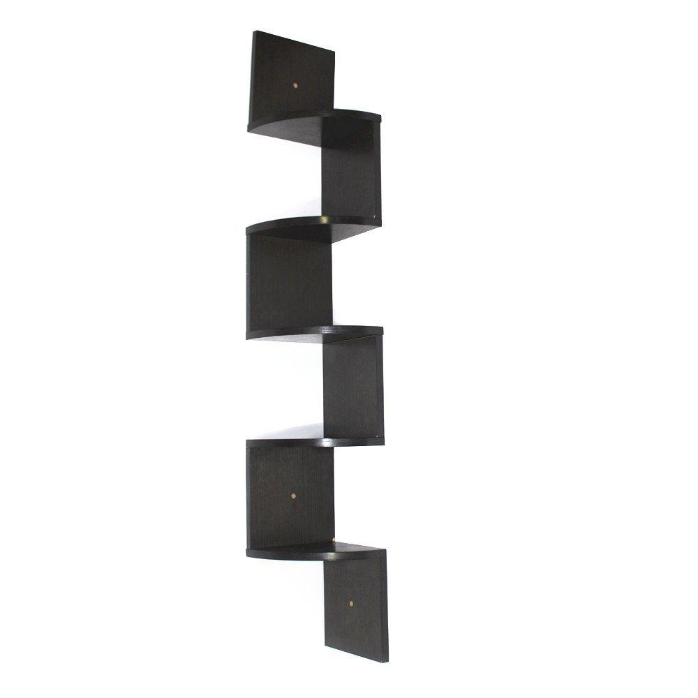 Fabulous Corneria 5 Tiers Large Corner Floating Wooden Shelf Interior Design Ideas Jittwwsoteloinfo