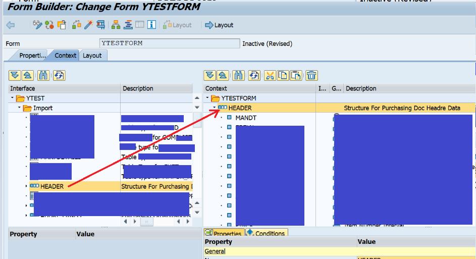 Calling custom developed Adobe Form from standard