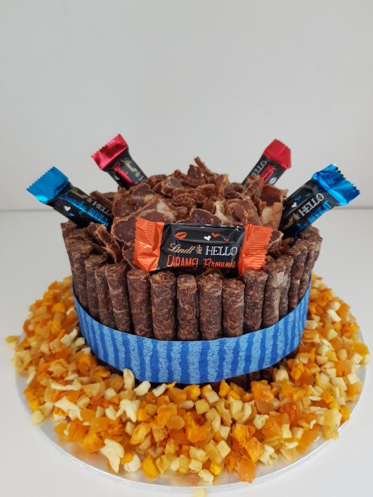 Biltong, dried fruit and Chocolate cake. To place order