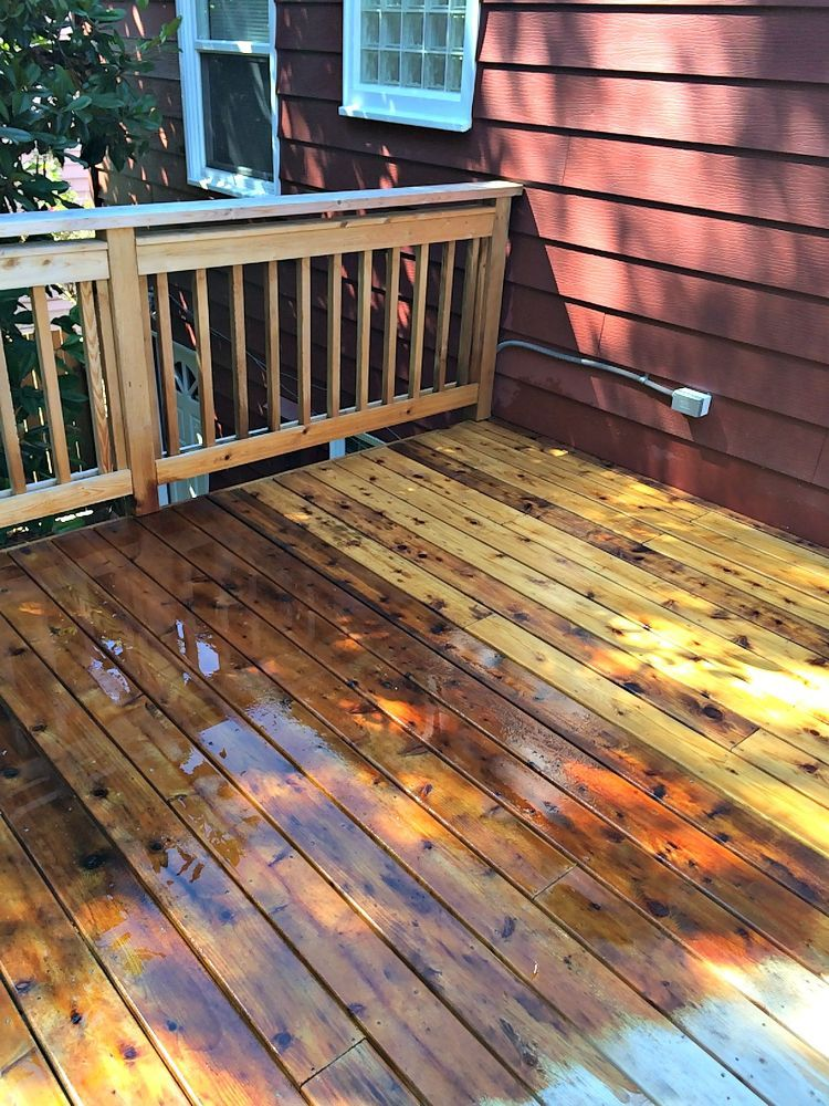 How To Restore A Gray And Faded Deck Outdoor Staining Deck Deck