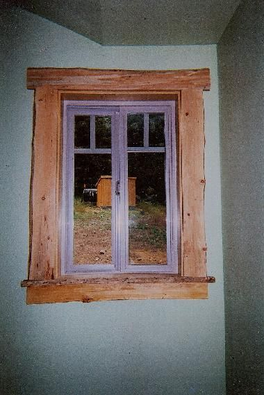 Cedar Window Trim | was shooter view of the swamp before trimming ...