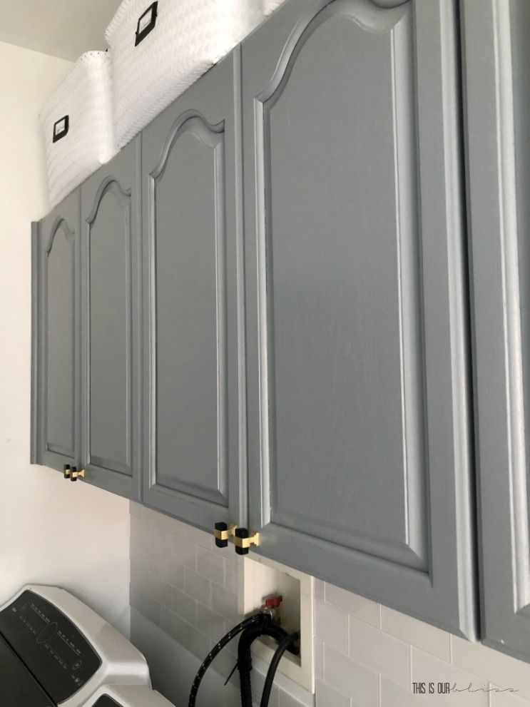 How to Simply Update Your Cabinets with Paint in a Day | This is our Bliss