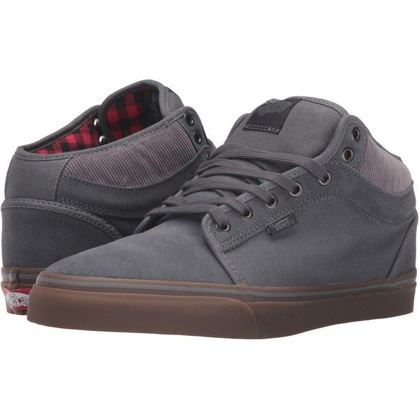 795fd8561b Vans Chukka Mid Top ((Buffalo Plaid) Tornado Gum) Men s Skate Shoes ...