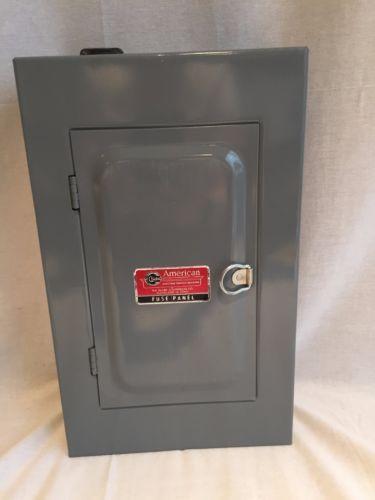 vintage american clark 60 amp fuse electrical panel 13 x8 8 slot rh pinterest com