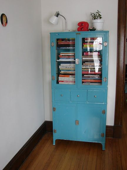 love this vintage metal cabinet...my search begins - Antique Medical Cabinet Photo: Cabinet Used For Storage In The