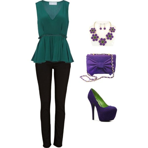 """purple and green"" by nadita2012 on Polyvore"