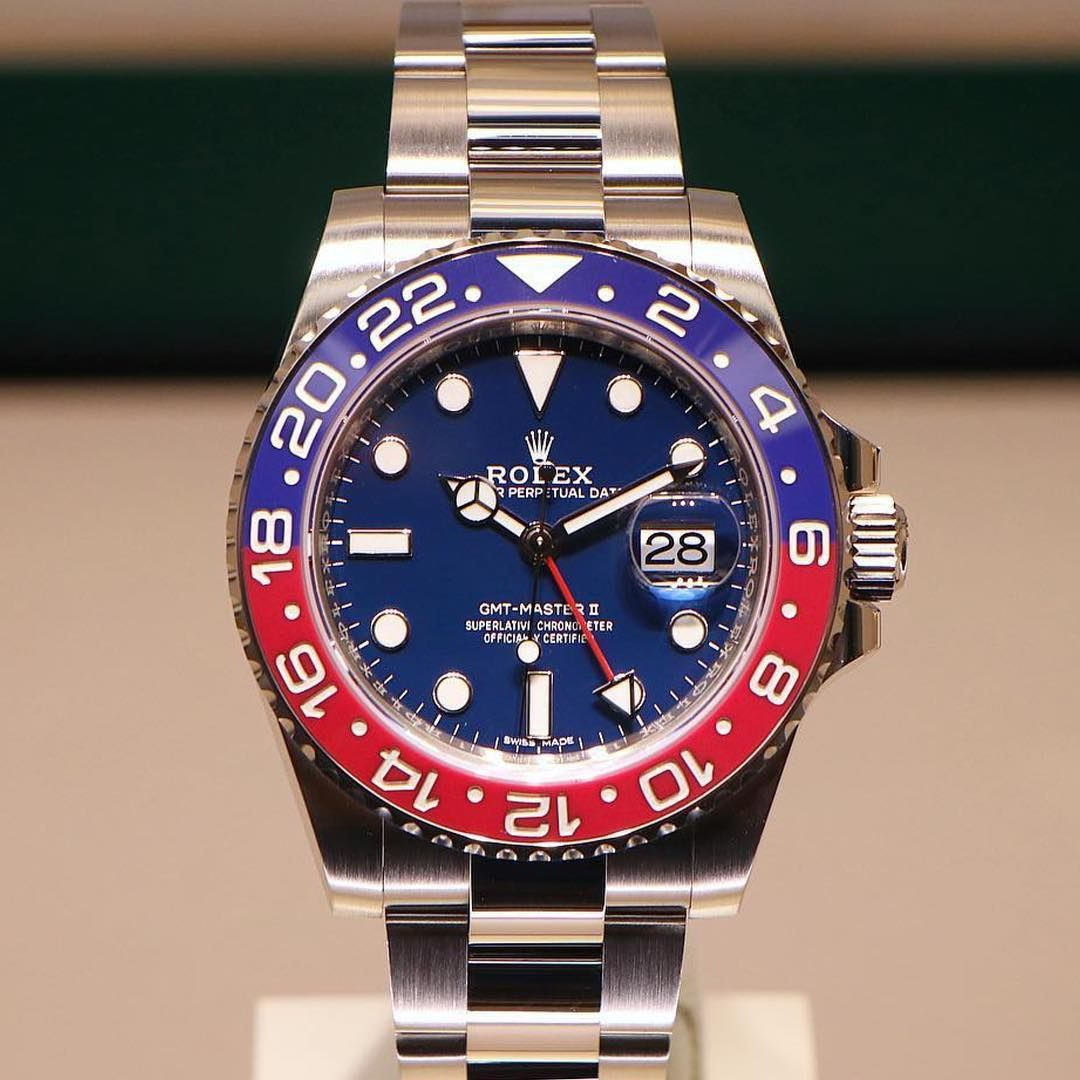sale retailer e186b d49de Rolex GMT-Master II 116719 BLRO blue dial Baselworld 2018 ...