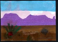 Tissue Paper scenery collage