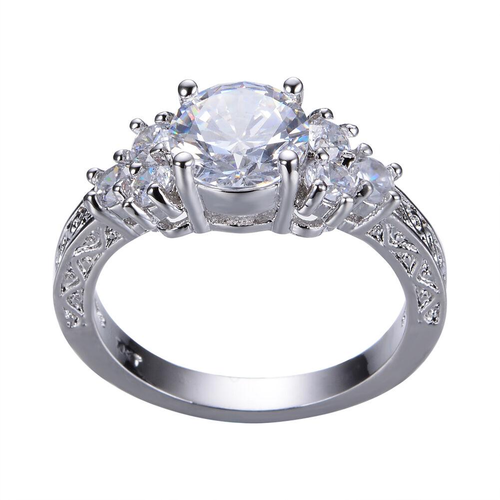 5 80 Ct Lab Diamond White Sapphire Wedding Ring 10kt White Gold Jewelry Size4 12 White Sapphire Ring Wedding White Gold Jewelry Cheap Wedding Rings